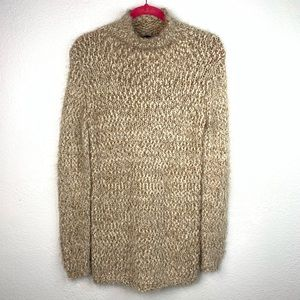 Chelsea & Theodore Funnel Neck Boucle Knit Sweater